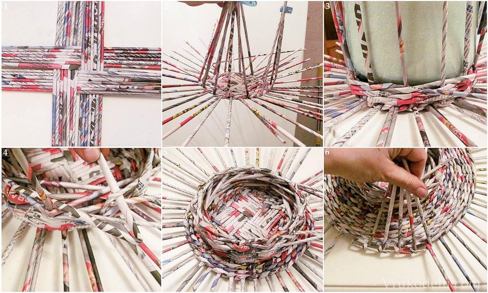 Корзина плетение своими руками